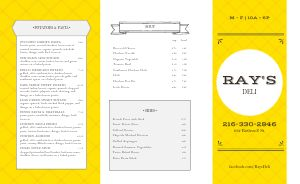 Bright Deli Takeout Menu
