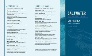 Seafood Takeout Menu Idea