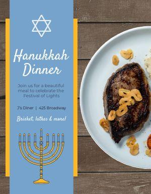 Hanukkah Dinner Flyer