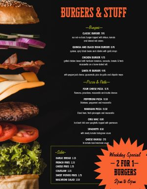 Burger Special Family Menu