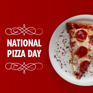 National Pizza Day Instagram Post