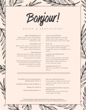 French Country Menu