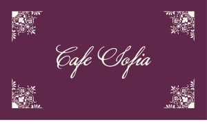 Elegant Cafe Business Card