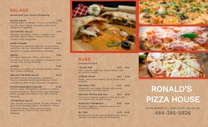 Pies Pizza Takeout Menu