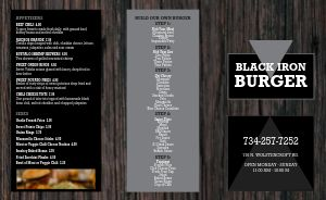 Wooden Burger Takeout Menu