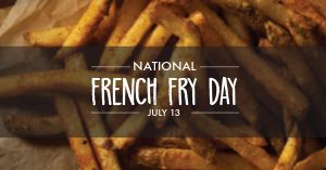 National French Fry Day Facebook Post