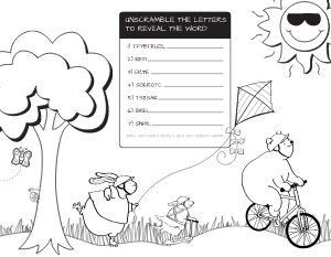 Word Scramble Kids Menu