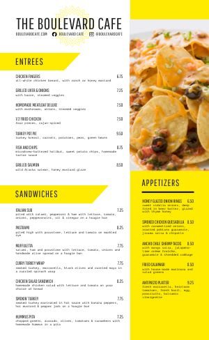 Nachos Family Menu