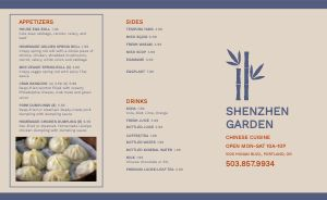 Garden Blue Chinese Takeout Menu