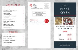 Pizza Takeout Menu Mailer