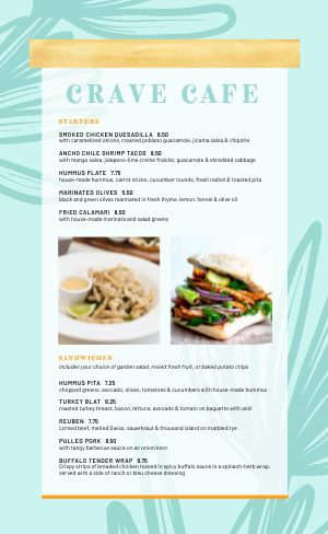 Example Cafe Menu