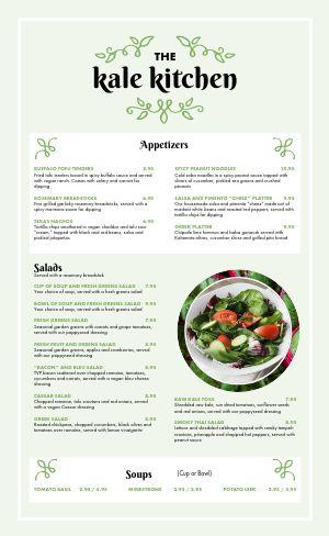 Elegant Vegan Menu