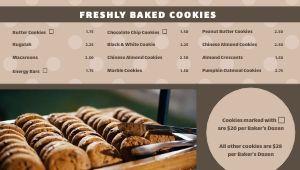 Dotted Bakery Digital Menu Board