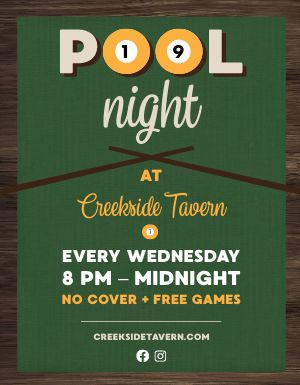 Pool Bar Flyer