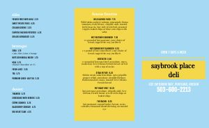 Blue Deli Takeout Menu