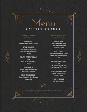 Geometric New Years Menu