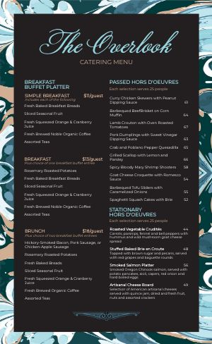 Elegant Catering Menu
