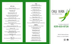 Mexican Chile Takeout Menu