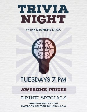 Pub Trivia Night Flyer