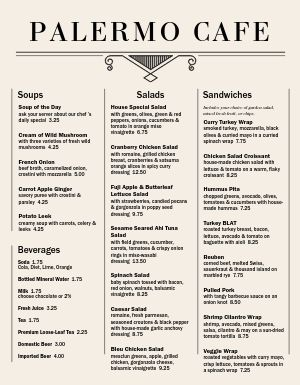 Cafe Italiano Menu