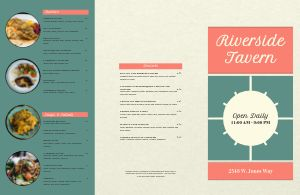 Fine Dining River Folded Menu