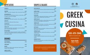 Example Greek Takeout Menu