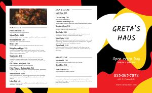 Abstract Flag German Takeout Menu