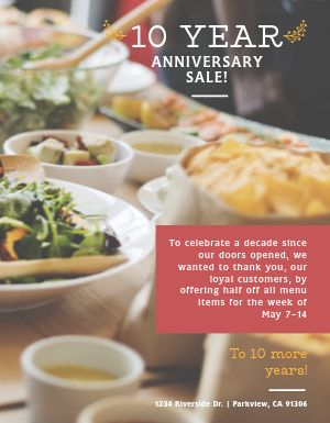 Anniversary Special Flyer