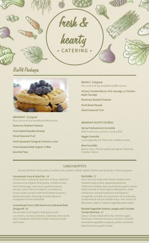 Healthy Catering Menu
