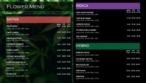 Dispensary Digital Menu Board