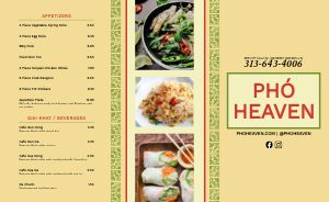 Example Vietnamese Takeout Menu