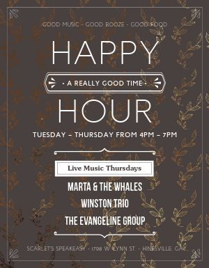 Restaurant Happy Hour Flyer