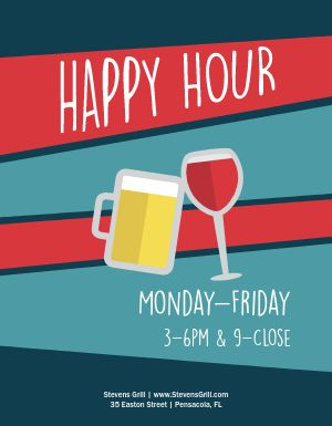 Happy Hour Drinks Flyer