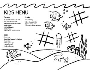 Example Kids Menu