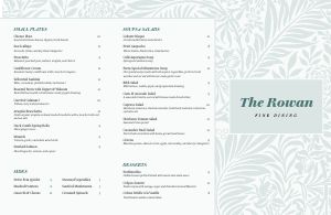 Pastel Fine Dining Folded Menu