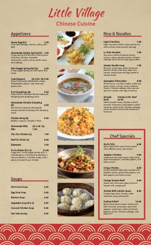 Simple Photos Chinese Menu