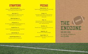 Endzone Sports Bar Takeout Menu