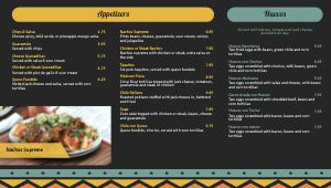 Country Mexican Digital Menu Board