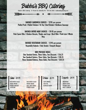 Urban BBQ Photo Menu