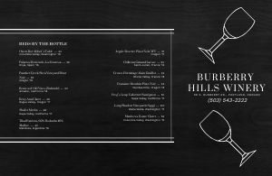 Alcohol Wine List Folded Menu