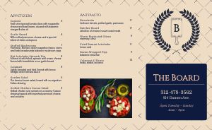 Italian Dining Takeout Menu