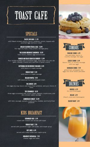 Toast Breakfast Menu