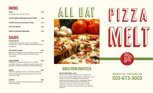 Fresh Pizza Takeout Menu