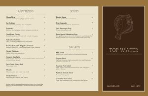 Seafood Fine Dining Folded Menu