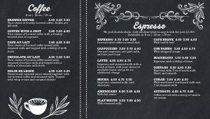 Streamlined Coffee Digital Menu Board