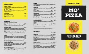 Traditional Pizza Takeout Menu