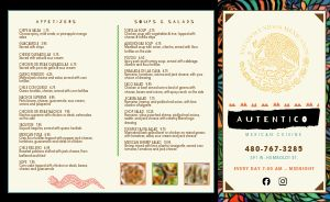 Abstract Mexican Takeout Menu