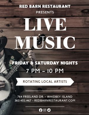 Restaurant Live Music Flyer