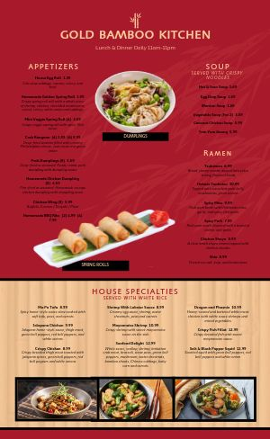 Eggroll Chinese Menu