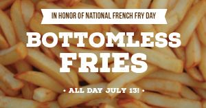 French Fries Facebook Post